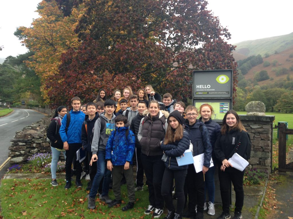 Bridgewater school year 9 Geography trip to Grasmere
