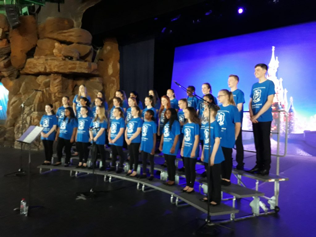 Bridgewater vocal group performs at Disneyland Paris