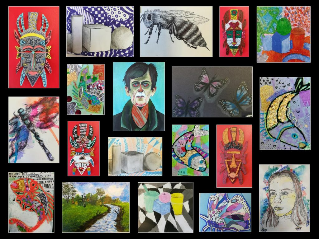 Bridgewater School artwork of the month award March April 2019