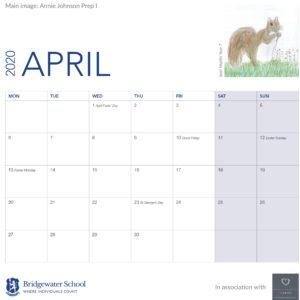 2020 Woodland Calendar April support image