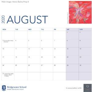 2020 Woodland Calendar August support image