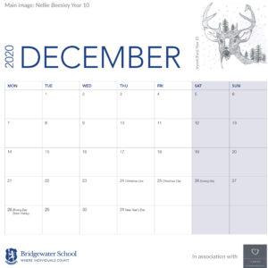 2020 Woodland Calendar December supportge