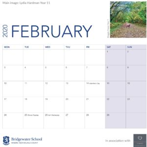 2020 Woodland Calendar February supportimage
