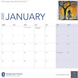 Woodlands calendar January support image