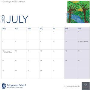 2020 Woodland Calendar July support image