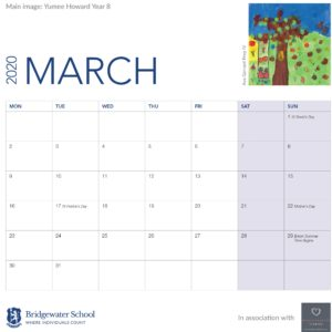 2020 Woodland Calendar March supportimage