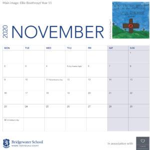 2020 Woodland Calendar November supportimage