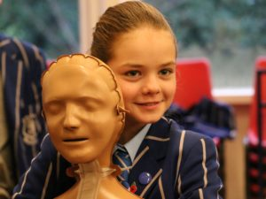 First aid training for Prep school pupils