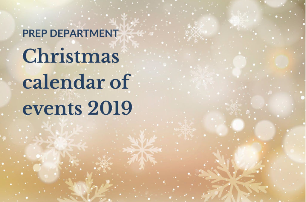 Bridgewater Prep Christmas calendar of events 2019