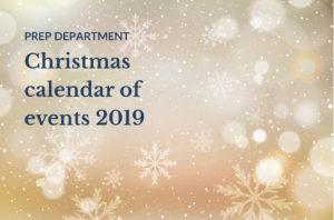 Bridgewater Prep Christmas calendar of events 2019