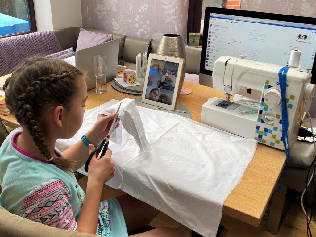 Pupil sews scrubs for NHS