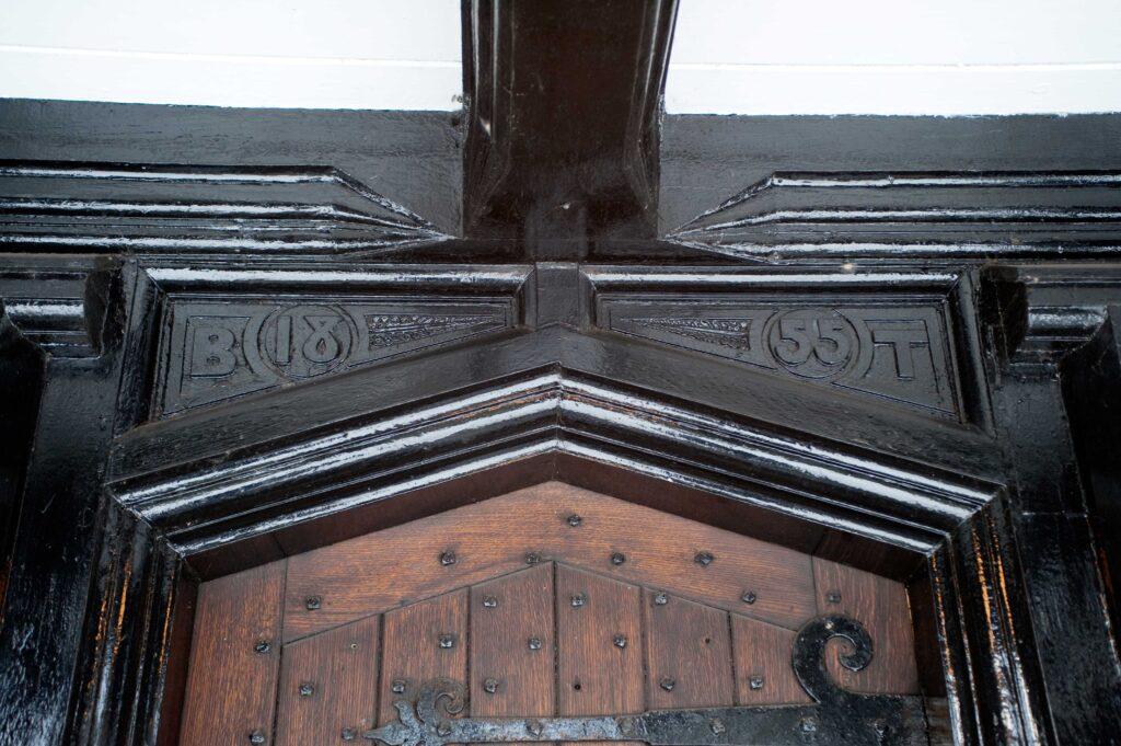 Bridgewater School Drywood Hall 1855 datestone