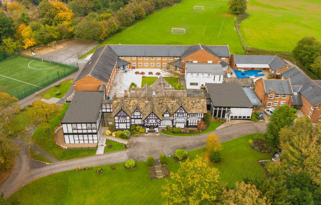 Bridgewater School overhead image
