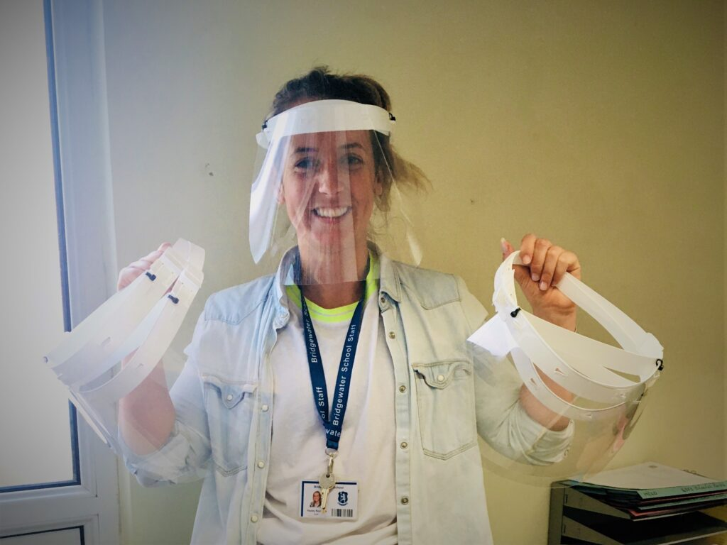 Bridgewater DT Dept make vital PPE for health workers