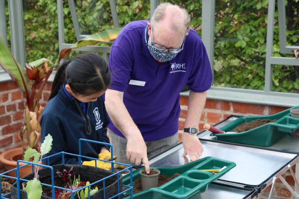 Bridgewater School visits RHS Garden Bridgewater